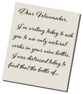 letter to winemaker