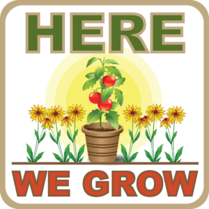 here we grow logo