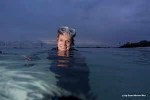 Sylvia Earle in the ocean