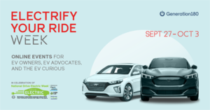 electrify your ride week graphic