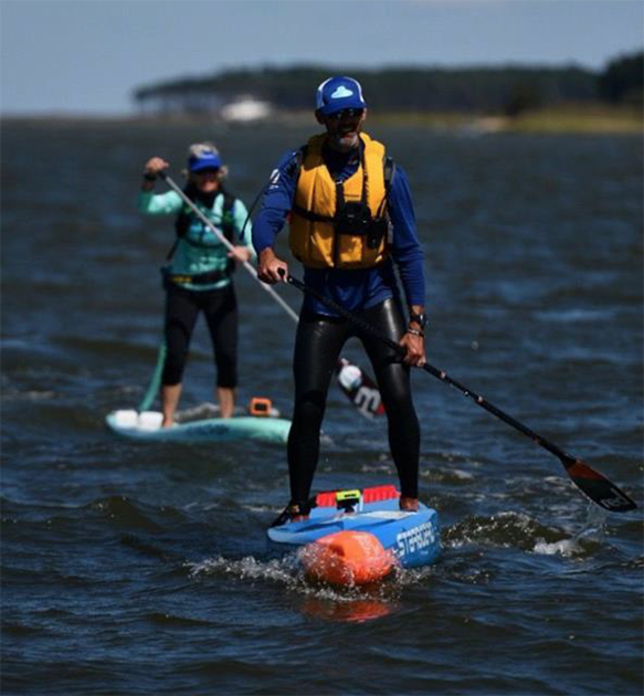 Chris Hopkinson on his SUP in Chesapeake Bay