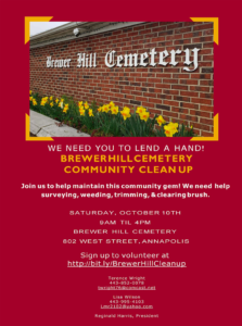 Brewer Hill Cemetery Community Cleanup