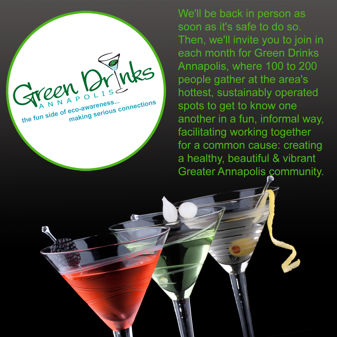 Green Drinks will be back