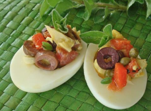antipasto deviled eggs
