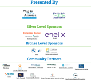 logos of national drive electric earth day sponsors