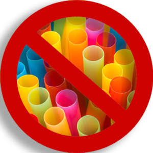 plastic straws with prohibited circle